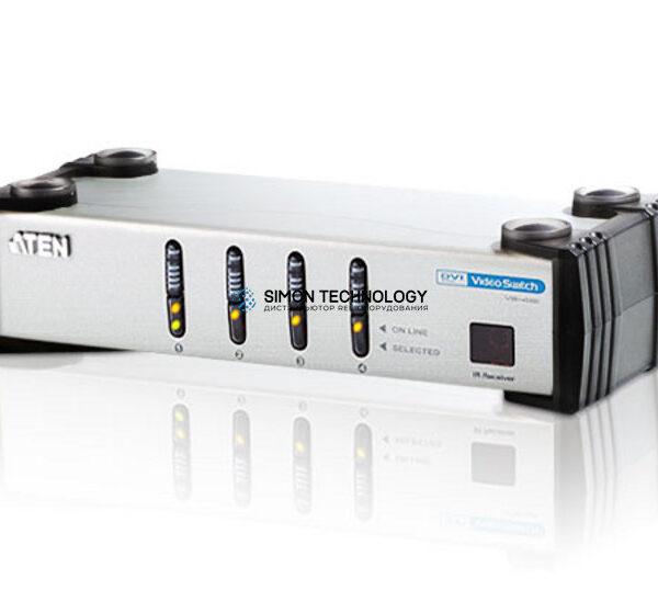 Aten Aten 4-Port DVI Audio/Video Switch w/IR Remote (VS461-AT-G)