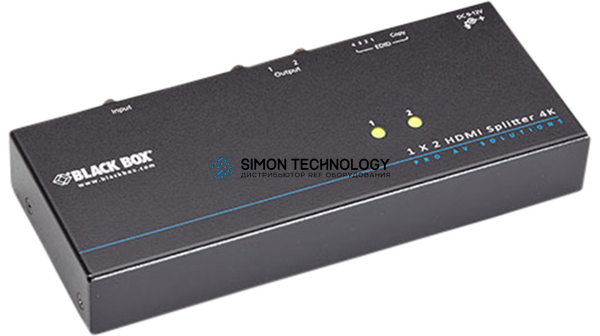 Black Box 2-PORT SPLITTER 4K 60 HZ 4 4 4 HDMI 2.0 (VSP-HDMI2-1X2)