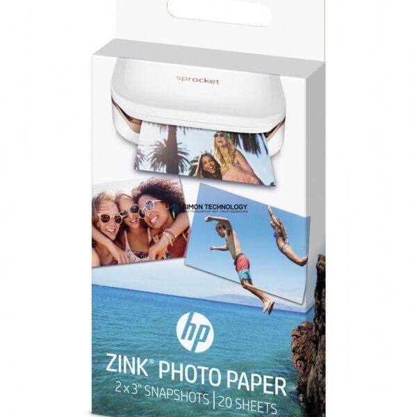 HP ZINK Sticky-Backed Photo Paper - Selbstklebend - gl?nzende Ausf?hrung (W4Z13A)