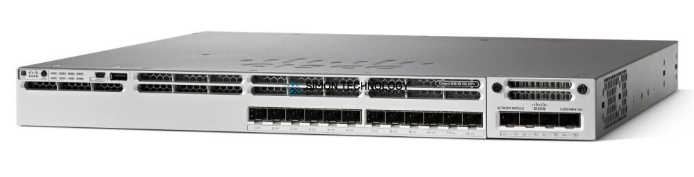 Cisco CISCO Catalyst 3850 16 Port 10G Fiber Switch IP Services (WS-C3850-16XS-S)