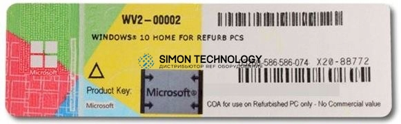 Microsoft Microsoft Windows 10 home 64-Bit COA Download Version inkl Vor-Install on (X20-88772)