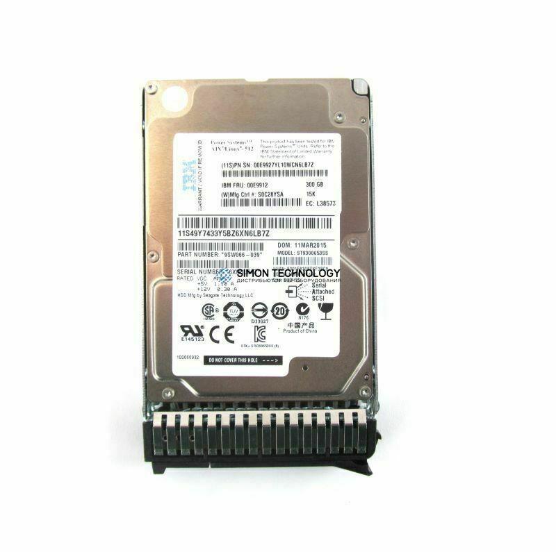 IBM IBM Spare HDD 300GB SAS 15K 2.5 6G V5000 (00AK201)