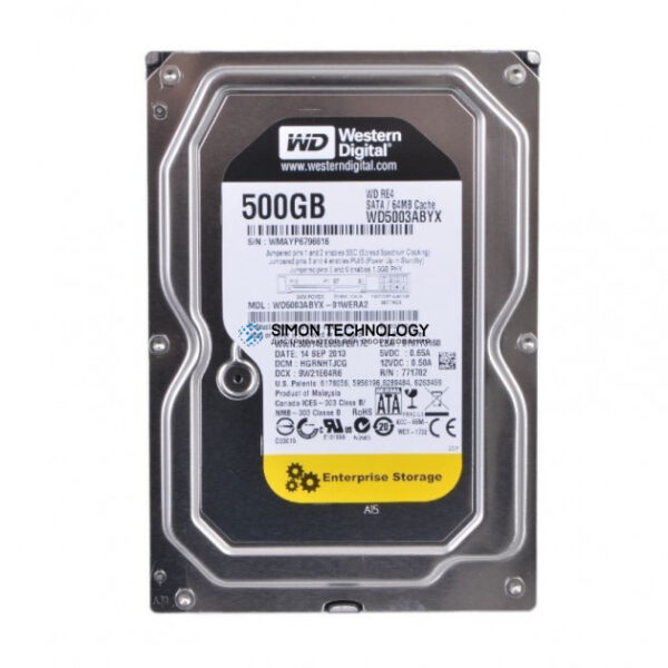 HPE HDD.SATA2.WD.500GB.7200.RE3 (35-03-00071-R)