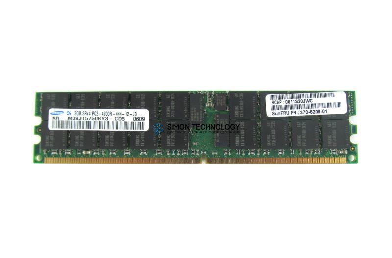 Оперативная память Sun Microsystems 1x 2GB 2RX4 667MHz PC2-5300P MEMORY DDR2 (370-6209-01)