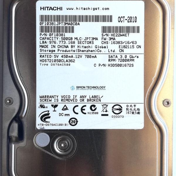 HPI 500GB 3.5 hdd SATA 3Gb/s hard drive - 7. (613208-001)