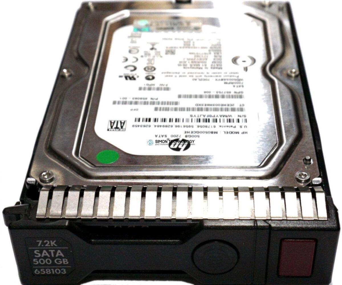 "HPE HDD 500GB 2.5"" 7.2K SATA 6G SPRTN (632142-001)"