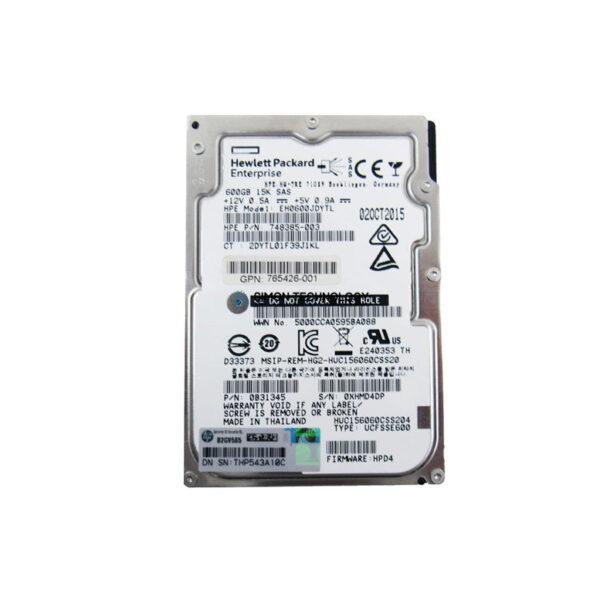 "HPE 3Par HDD 600GB 4G 15K 3.5"" FC incl Bracket (649821-001)"