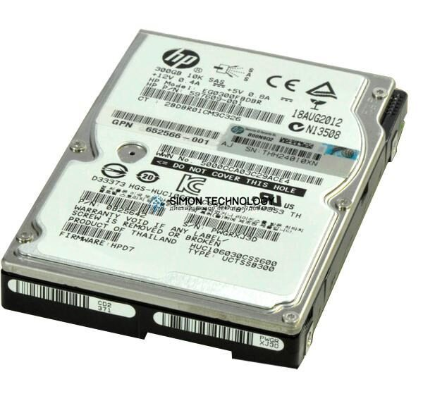 HDD HP 300GB 6G SAS 10K rpm SFF SC Enterprise HDD (652566-001)