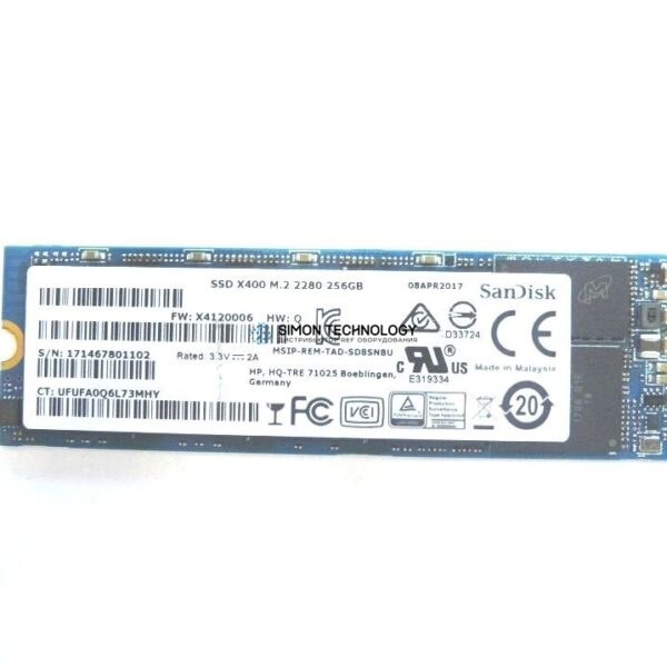 HP 256GB SSD M.2 SATA-3 OPAL2, SED, TLC (914930-001)