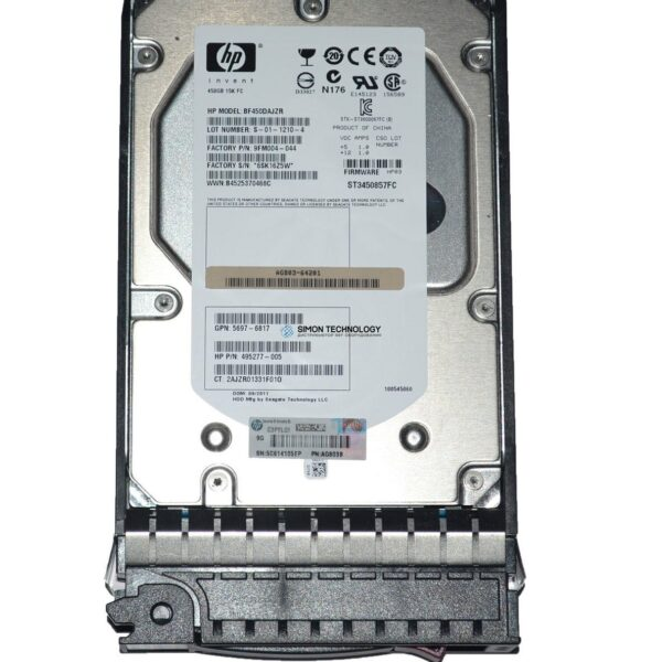 HDD HPE EVA HDD 450GB 15K FC for M6412 Enc (AG803)