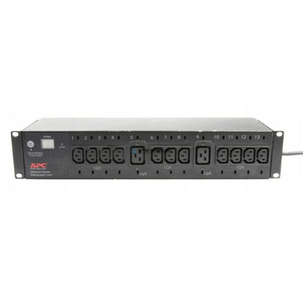 Распределитель питания APC APC Metered Power Distrubution Unit PDU 2U 16A 1P+N+G - 11x C13 2x C19 - (AP7611)
