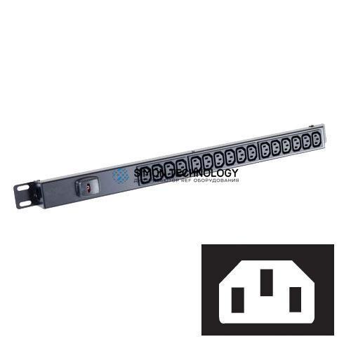 Распределитель питания Black Box Black Box 12-WAY 1U Vert/Slim C13/C14 Power Strip (BBIEC12VC14)