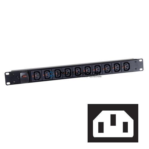 Распределитель питания Black Box Black Box 12W Vert Lock/IEC IEC/C14 (BBIEC12VCLKC14)