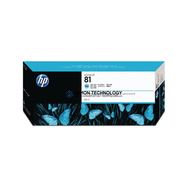 HP 81 - Tintenpatrone Original - Hell- / PhotoCyan - 680 ml (C4934A)