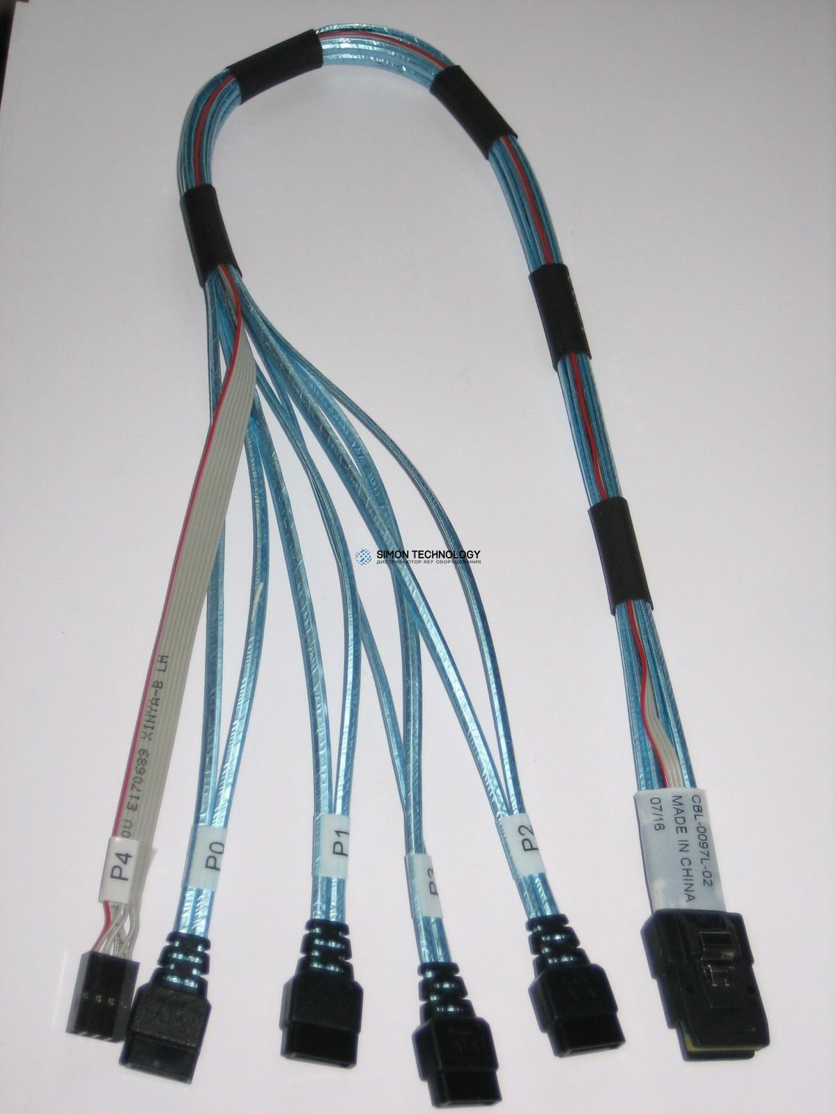 Кабели Supermicro Super SAS Kabel to 4x SATA (CBL-0097L-02)