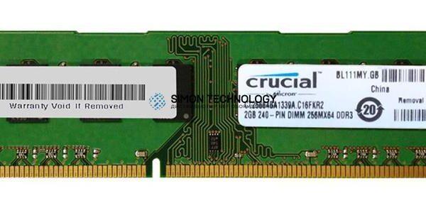 Оперативная память Crucial CRUCIAL 2GB (1*2GB) 2RX8 PC3-10600U DDR3-1333MHZ UDIMM (CT25664BA1339A)