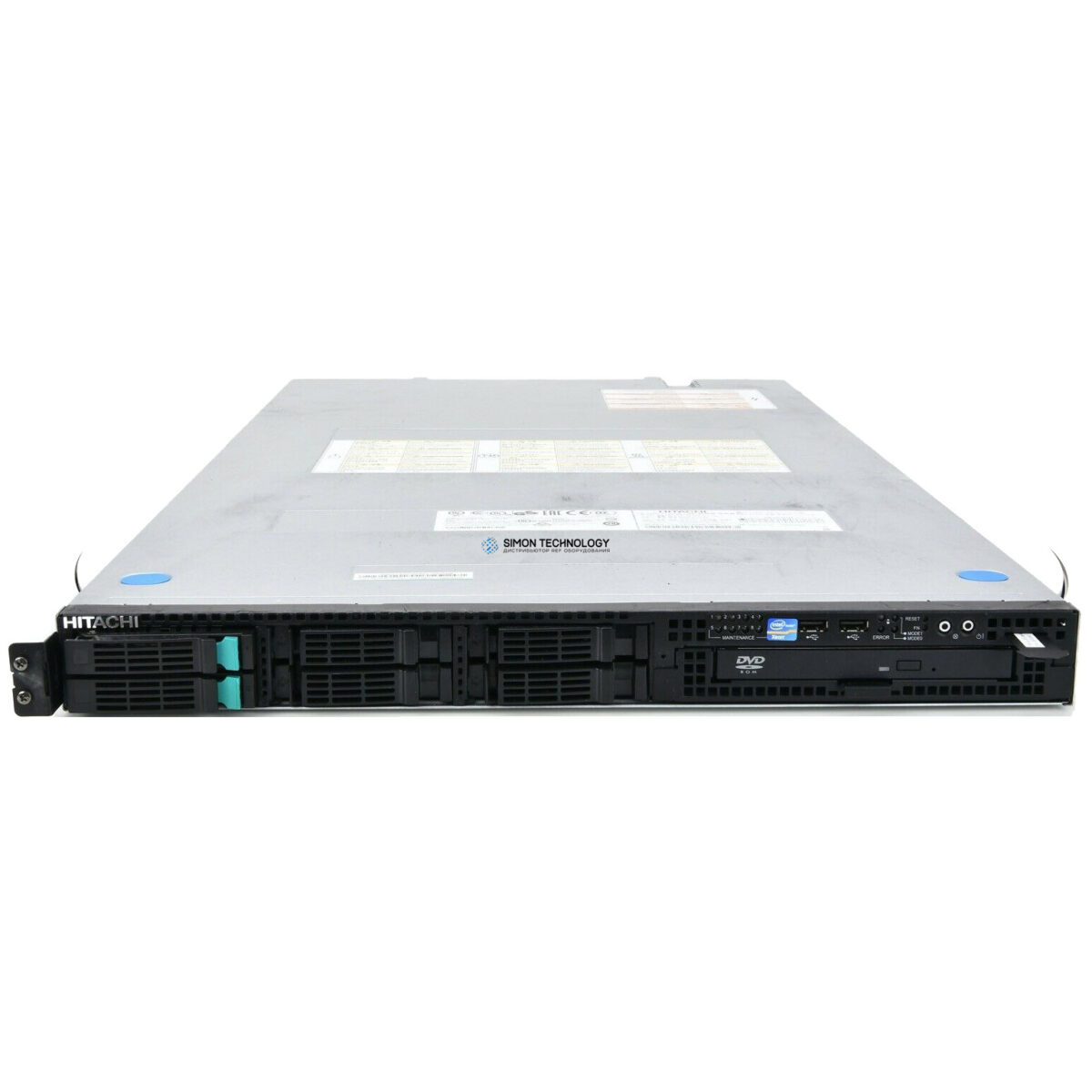Сервер HDS Hitachi Compute Rack 210H Server 1x CPU, 16GB, raid controller, 1x 8GB Dual fiber adapter, 2x 300GB diske, dual PSU, rackmount (GQ-CR210HM-NDN-Y)