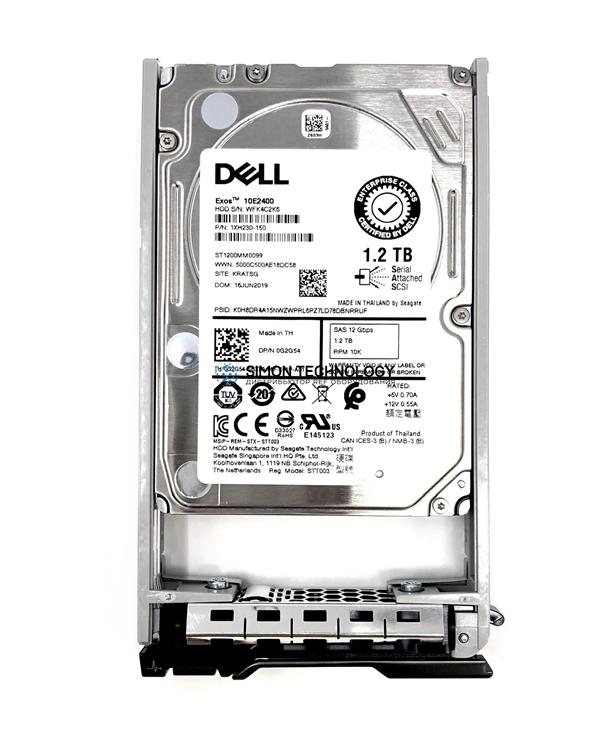 """Dell Dell HDD 1.2TB 2.5"""" 10K SAS 12gb/s HP CusKit (GT8N2)"""