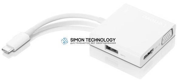 Кабели Lenovo Lenovo USB-C 3 i 1-hub (GX90T33021)