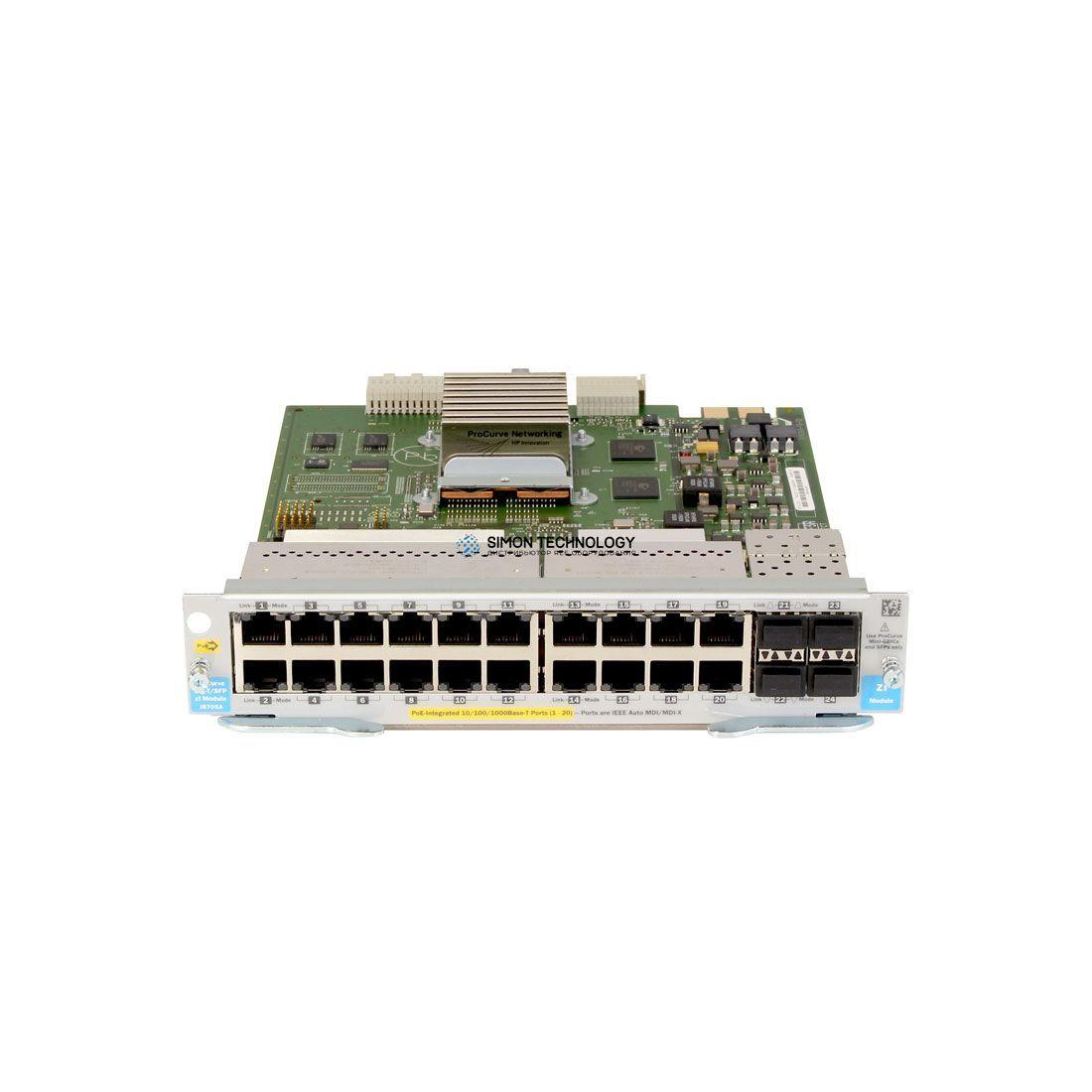 Модуль HPE HPE 20p 10/100/1000 PoE+/4p MGBIC zl Mod (J9308-61201)