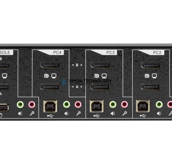 Коммутаторы Black Box KVM Switch Dual DisplayPort 1.2 USB Audio - 4 port (KV6224A)