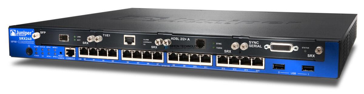 Коммутаторы Juniper Services Gateway with 16 x ports POE 4x mini-PIM (SRX240H2-POE)