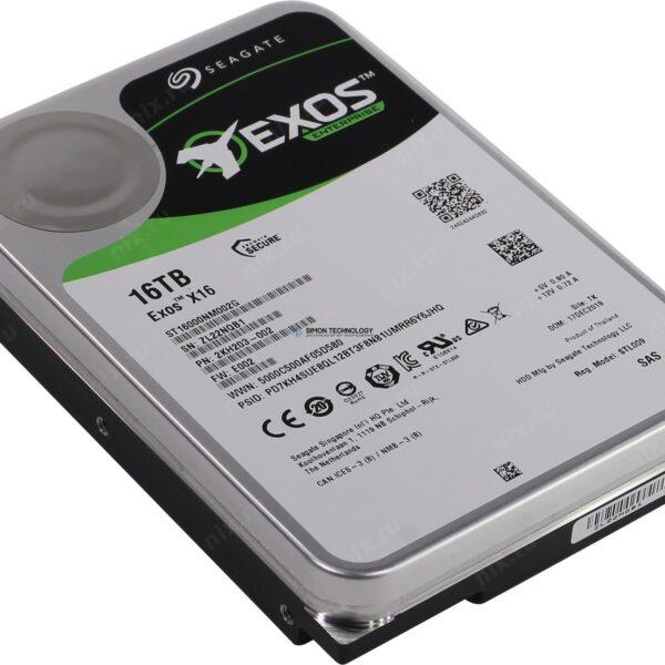 Seagate Exos X16 - Festplatte - 16 TB SAS 12Gb/s (ST16000NM002G)