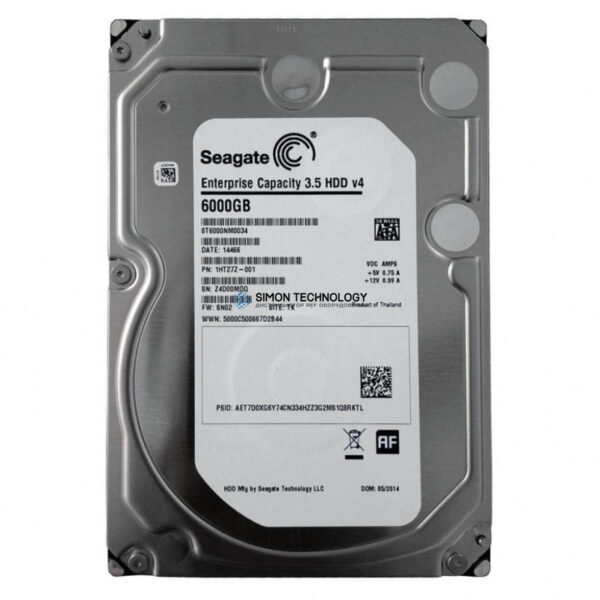 Dell 6TB 7.2K 12G LFF SAS HDD (ST6000NM0034)