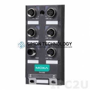 Коммутаторы MOXA Moxa En50155 Unmanaged M12 Ethernet Switch (TN-5305-T)