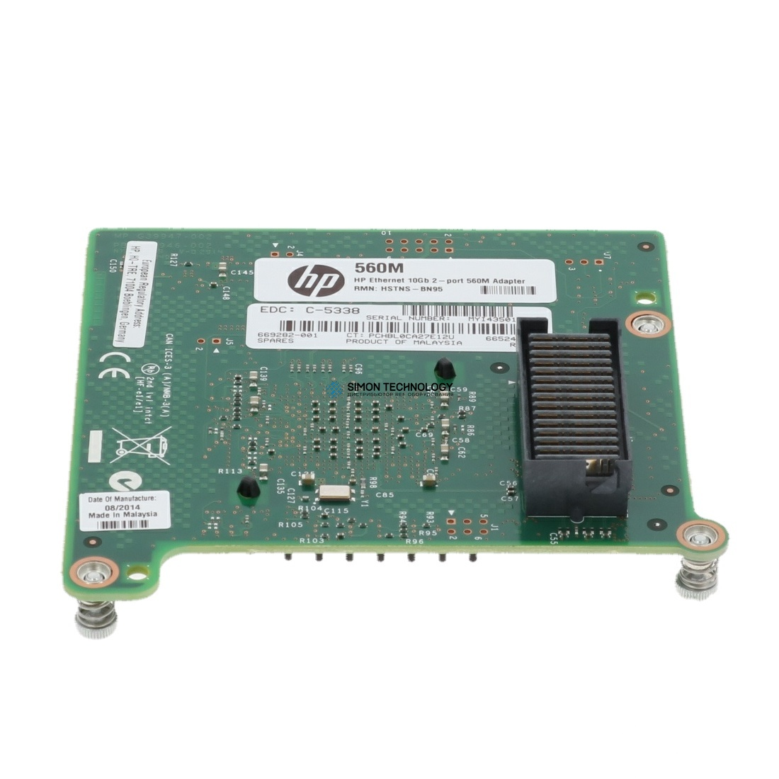 HP Ethernet 10GB 2-Port 560M Adapter (669282-001)
