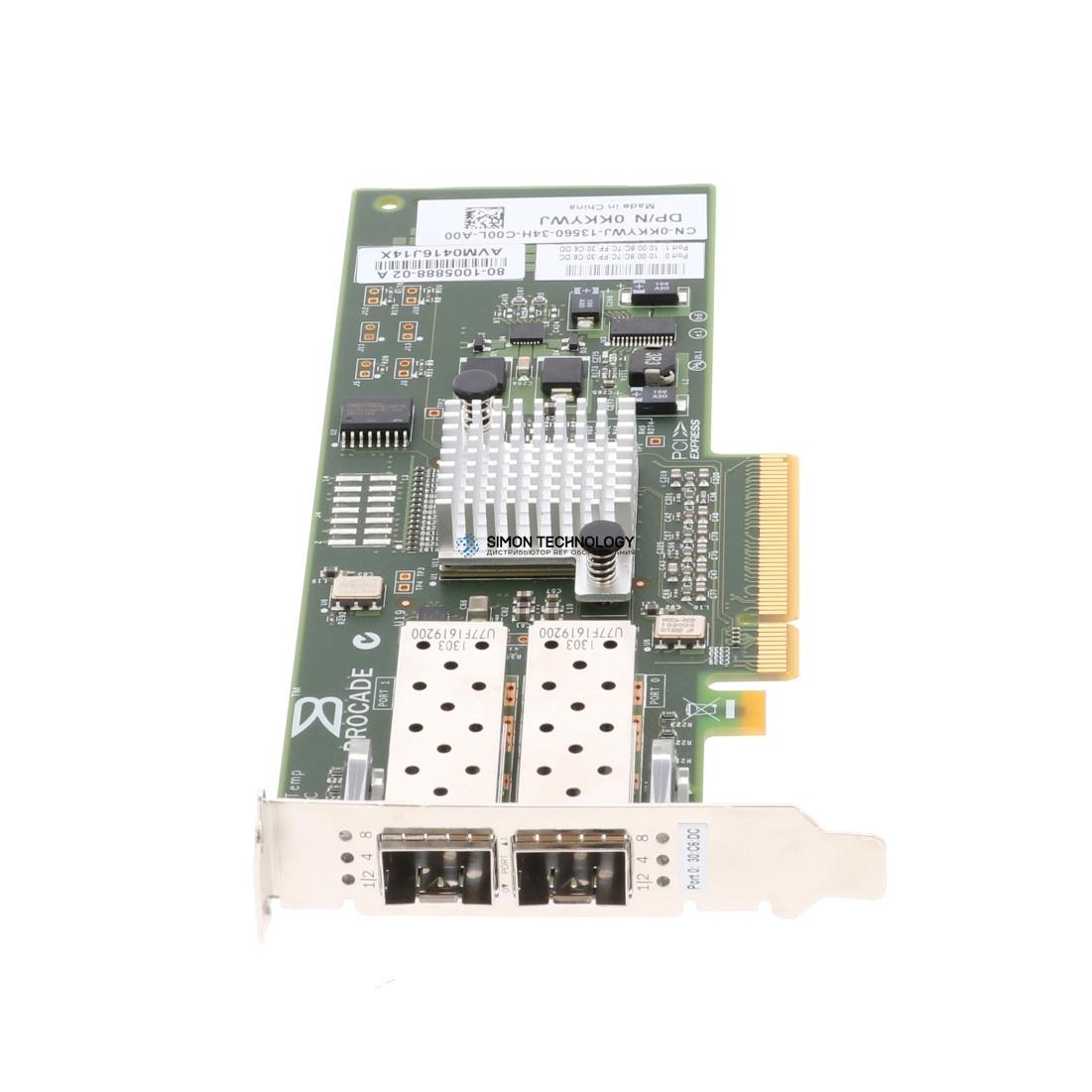 Контроллер Dell Brocade 825 8GB FC 2PORT PCI-E (KKYWJ)