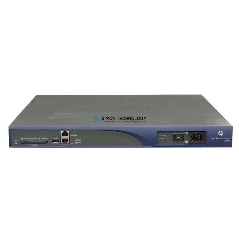 Маршрутизатор HP Router 4x SIC Module Slot (A-MSR 20-40)