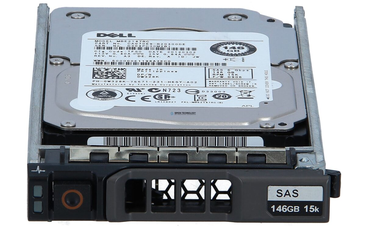 Жесткий диск Dell 146GB 15K SAS 2.5 6GBPS (CA07069-B20400DE)