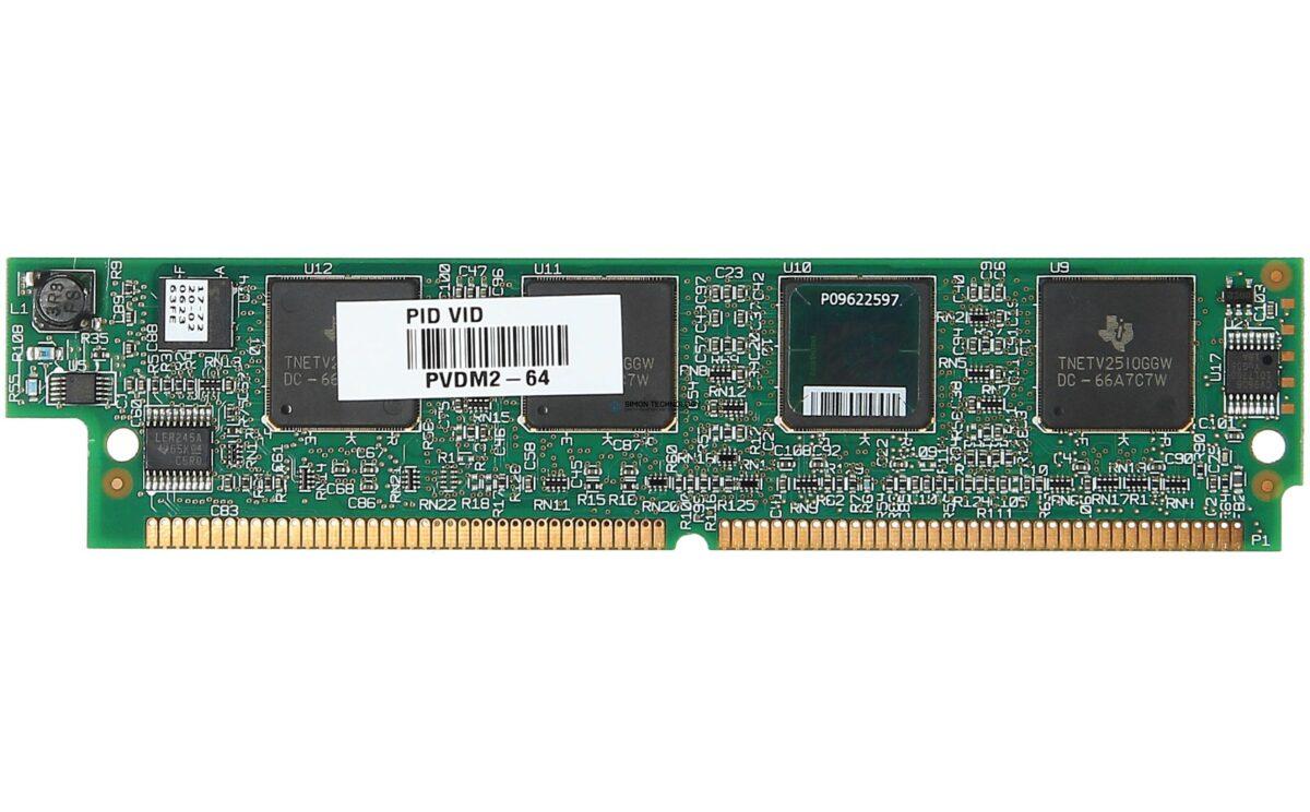 Cisco 64-Channel Packet Voice/Fax DSP Module (PVDM2-64=)