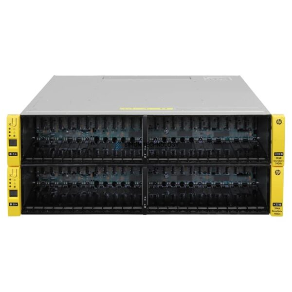 СХД HP 3PAR SAN Storage StoreServ 7400c 4N Base FC 8Gbps 48x SFF w/ 25 Lic 96 Disk - (QR513A)
