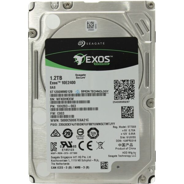 Жесткий диск Seagate Exos 10E2400 - Hybrid-Festplatte - 1.2 TB (16 GB Flash) NEW (ST1200MM0129)