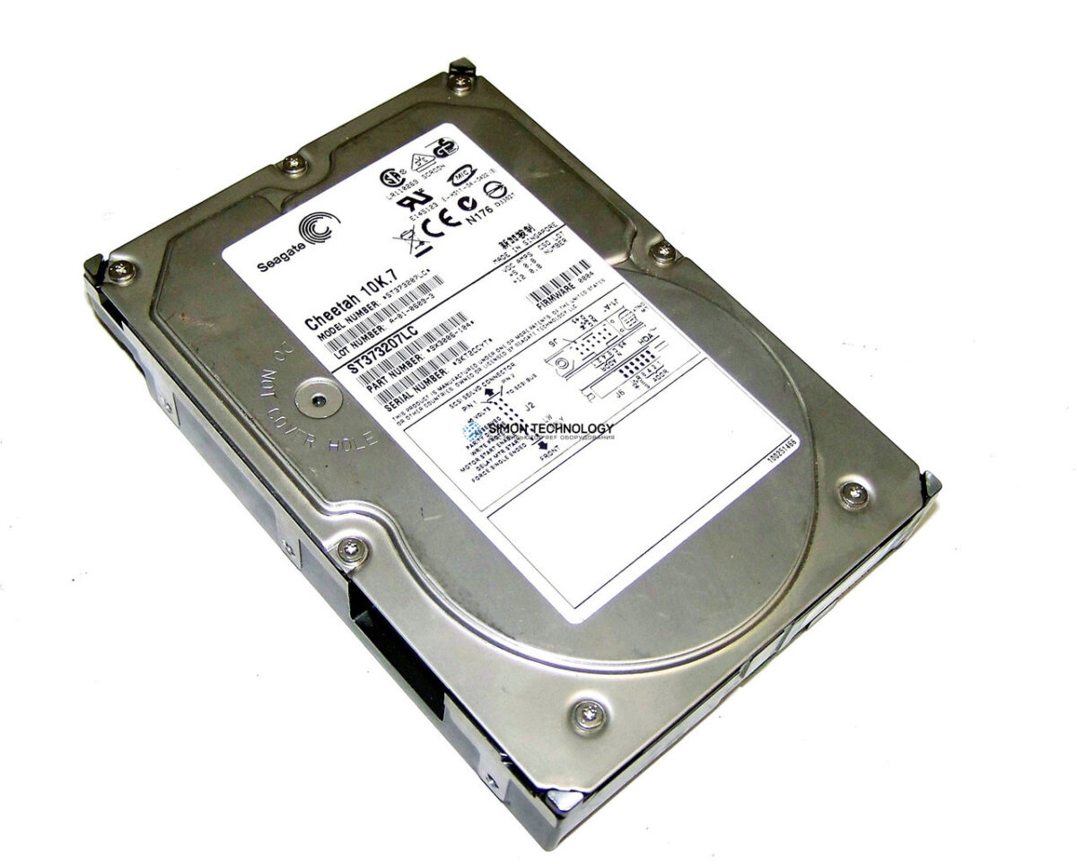 "Жесткий диск Dell 73 GB 10.000 RPM SCSI 3.5"" Hard Disk Drive (ST373207LC)"