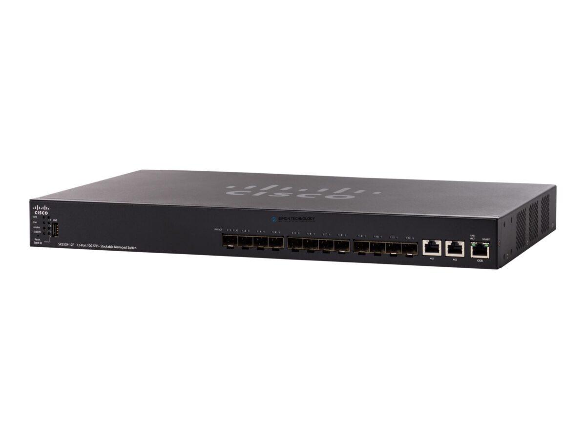 Коммутатор Cisco 12-Port 10G SFP+ Stackable Managed Switch (SX550X-12F-K9-EU)