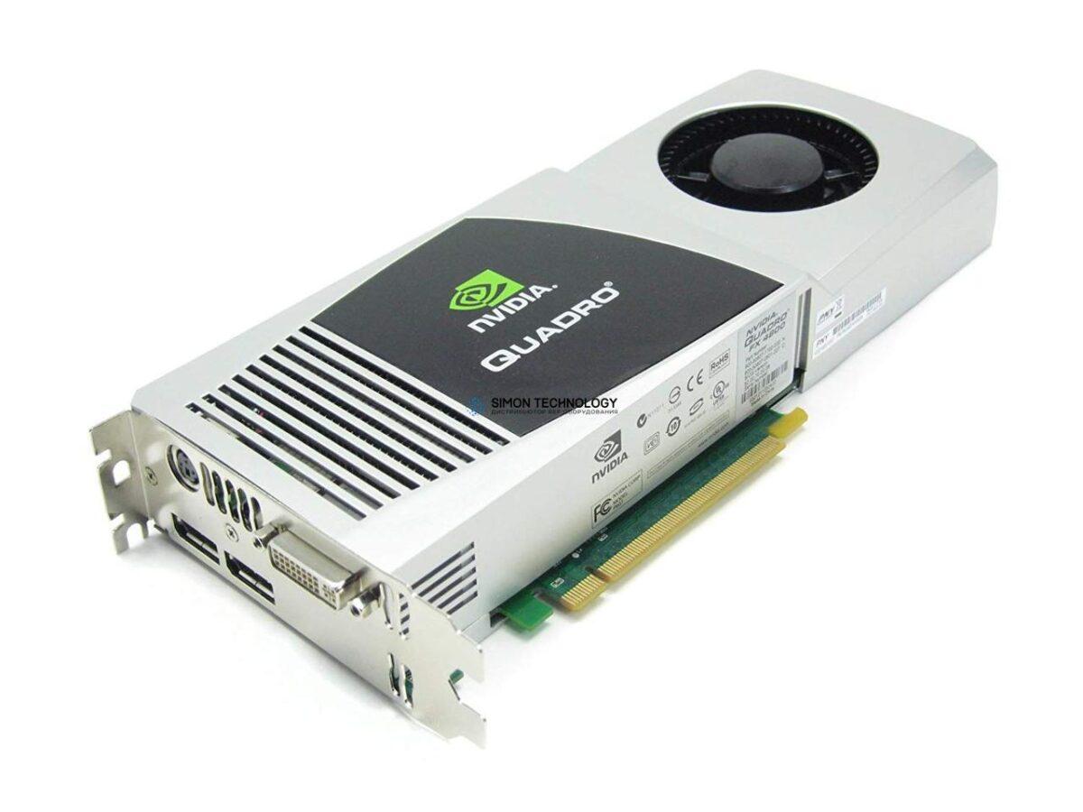 Видеокарта Dell Grafikkarte Quadro FX 4800 1,5GB 1x DVI 2x DP PCI-E x16 - (Y451H)