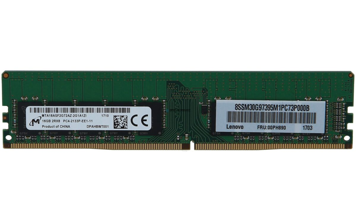 Оперативная память Lenovo DDR4 - 16 GB - DIMM 288-PIN - 2133 MHz / PC4-17000 (4X70G88332)
