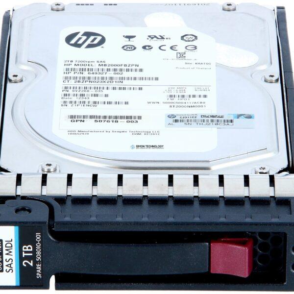 Жесткий диск HPE STORAGEWORKS P2000 2TB 6G SAS 7.2K LFF (3.5-in) DUAL PORT MDL (606228-002)