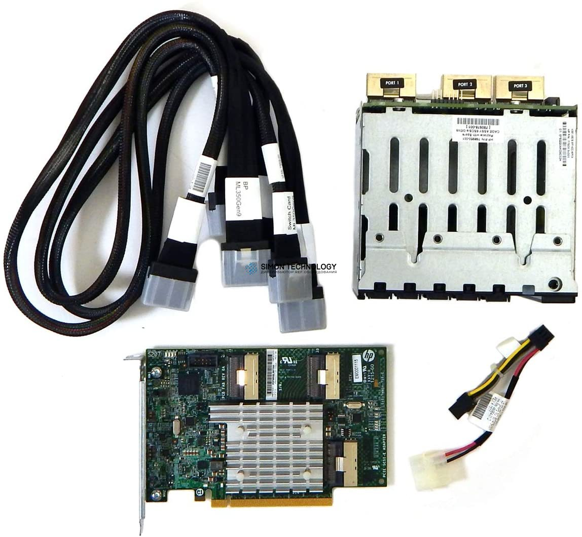 HP ML350 Gen9 NVMe 6 Solid State Drive Express Bay Enablement Kit (726551-B21)
