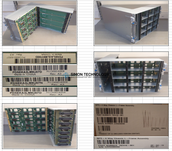 HPE 4 Way Chassis L-Frame Assy (782416-001)
