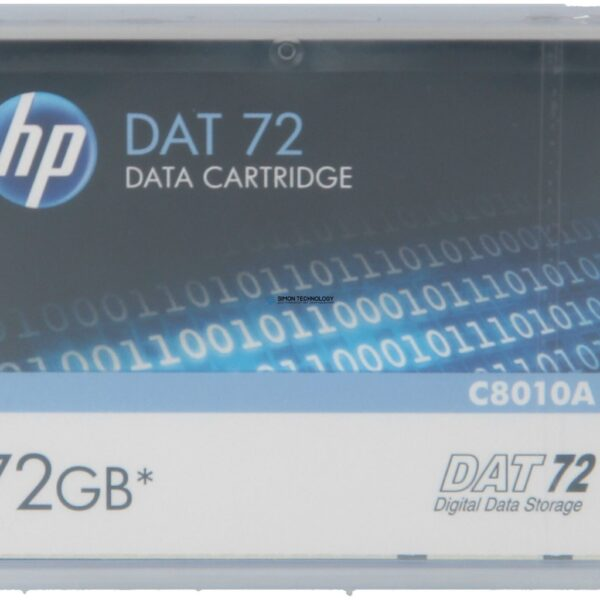 Картридж HPE - DAT-72 - DAT, DDS - 72 GB Kassette, Daten-Cartridge 36 GB/72 GB (C8010A)