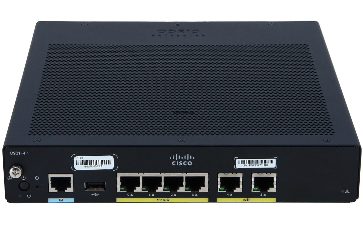 Маршрутизатор Cisco Integrated Services Router 931 - Router (C931-4P)
