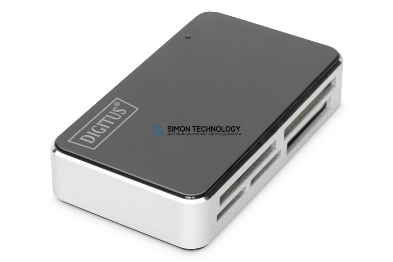 Digitus Card Reader USB 2.0. Black All-in-One. supports T- (DA-70322-1)