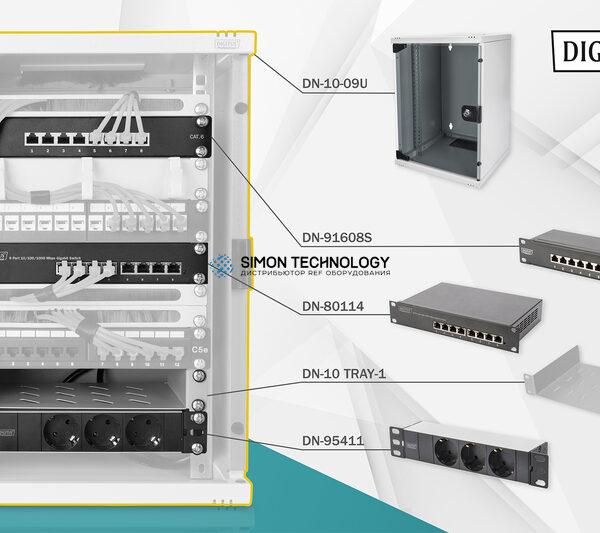 """Digitus Network Set 2. 254mm (10"""") 9U. 312x300mm. Incl. (DN-10-SET-2)"""