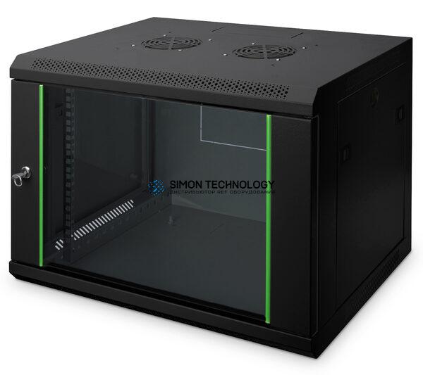 Digitus 7U Wall Mounting Cabinet 416x600x450mm. Black (DN-19 07-U-EC-SW)