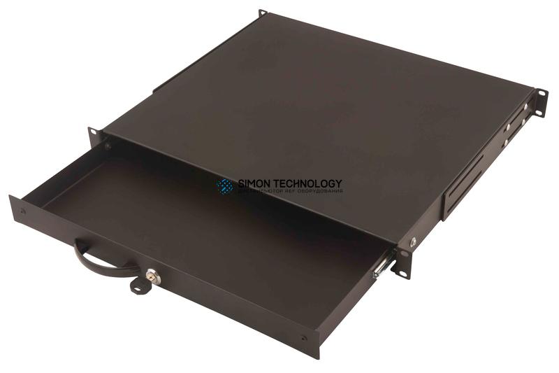 Digitus 1U lockable keyboard shelf Black RAL 9005 (DN-19 KEY-1U-SW)