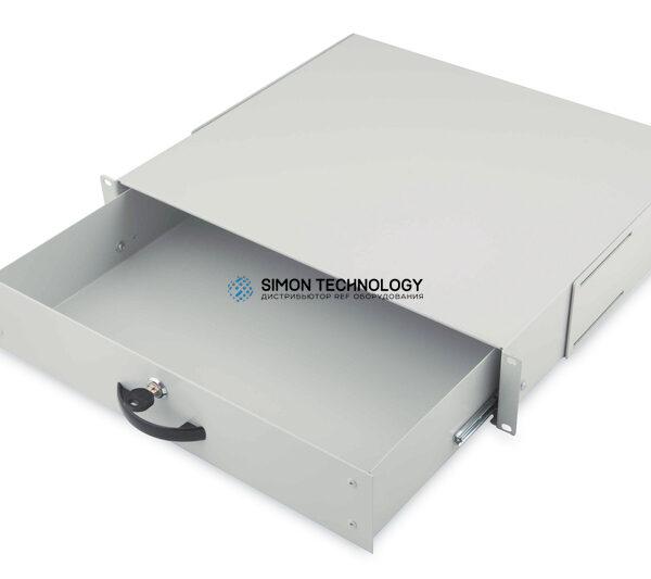 Digitus 2U lockable drawer Grey RAL 7035 (DN-19 KEY-2U)